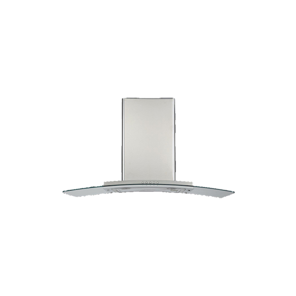 90cm Curved Glass Canopy Rangehood